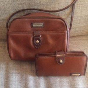 Liz Claiborne Brown Crossbody Bag and Wallet Set